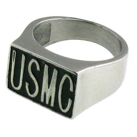 Woman's Stainless Steel USMC Ring