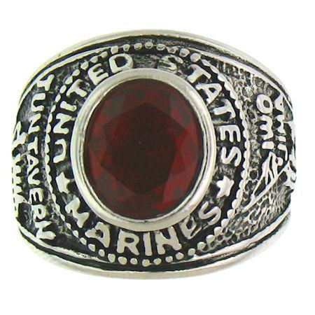 Woman's Stainless Steel United States Marines Ring