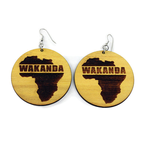 Wood Wakanda Earrings
