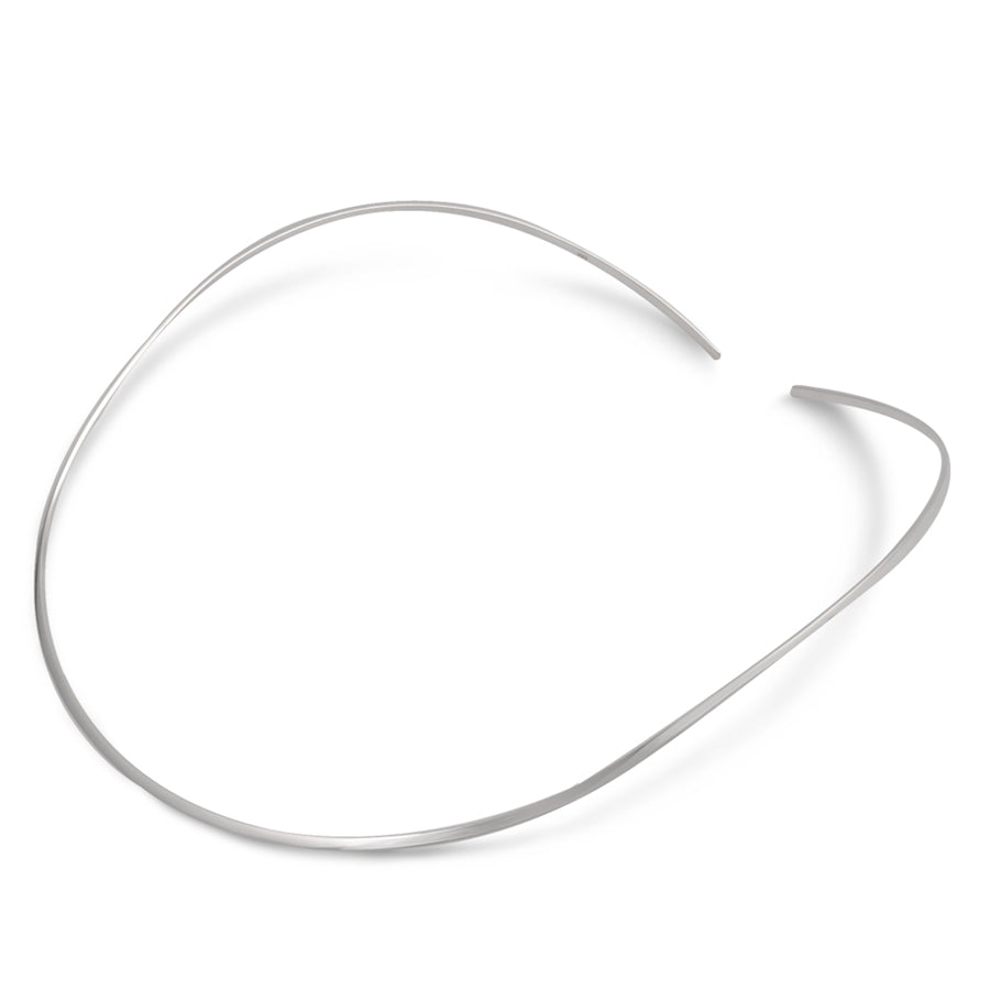 Sterling Silver Flat Choker Necklace