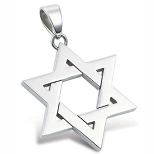 Stainless Steel Star of David Pendant Necklace
