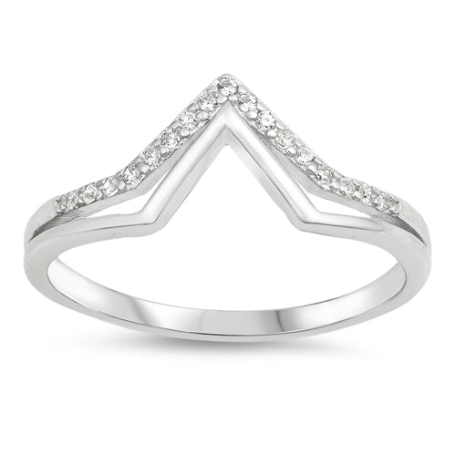 Sterling Silver Thumb Ring with CZ - 8mm