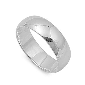 Sterling Silver High Polish Wedding Band