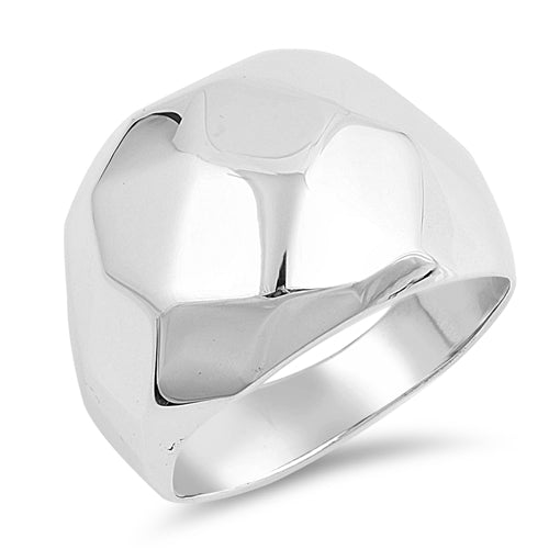 Sterling Silver Dimisional Men's Ring