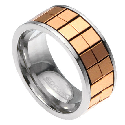 Stainless Steel Rose Gold Ring