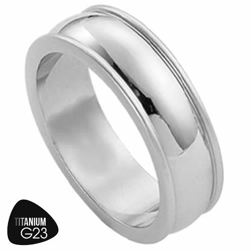 Titanium Traditional Ring Band