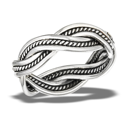Sterling Silver Bali Style Twist Ring