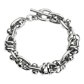 Men's Stainless Steel Bracelet with Toggle Clasp