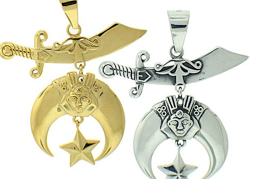 Stainless Steel Shriner's Pendant Necklace