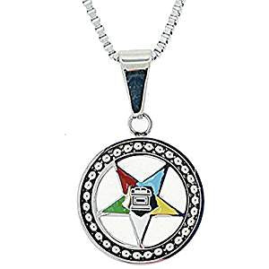 Stainless Steel Eastern Star Pendant Necklace-SL