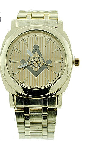 Masonic Watch with Stainless Steel Band
