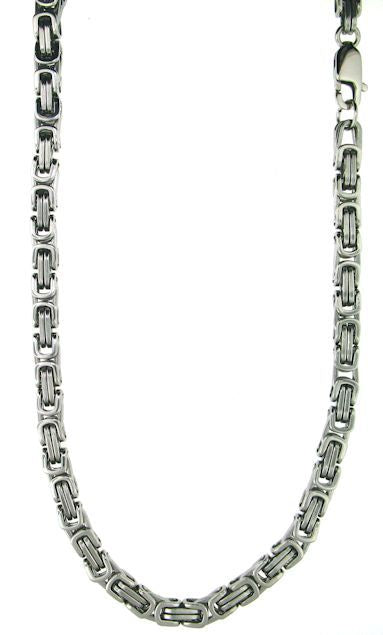 Stainless Steel Byzantine Bracelet & Necklace