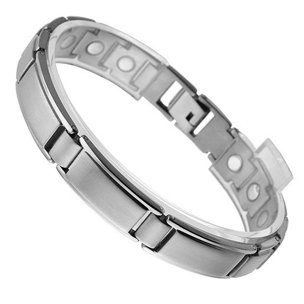 Titanium Magnetic Bracelet with Brushed Finish