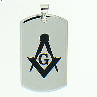 Stainless Steel Heavy Duty Masonic Pendant Necklace
