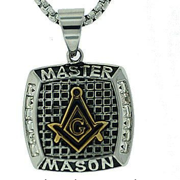 Stainless Steel Master Mason Pendant Necklace