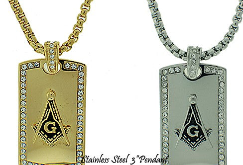 Stainless Steel Masonic Necklace