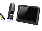 "AM5212NZT-D15 RCA Polarizer Microscope with 5"" Portable LCD Screen"