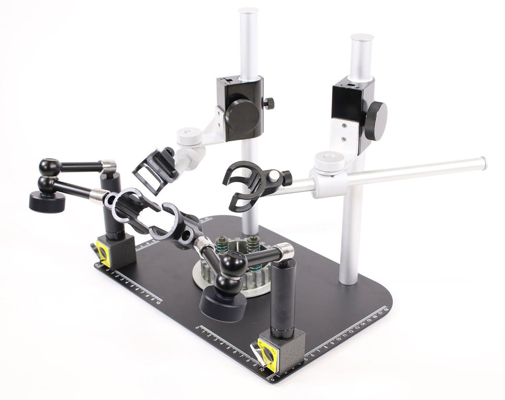 MS37B-26MV2 Quad Scope Stand with 2 Boom arm and 2 Single Lock Arms