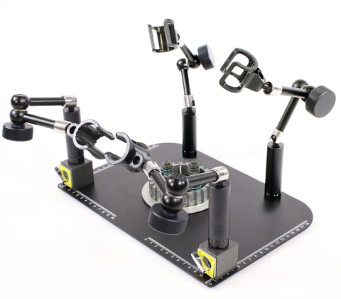MS37B-M4 Quad Scope Stand with 4 Single Lock Arms (2 Magnetic Stands)