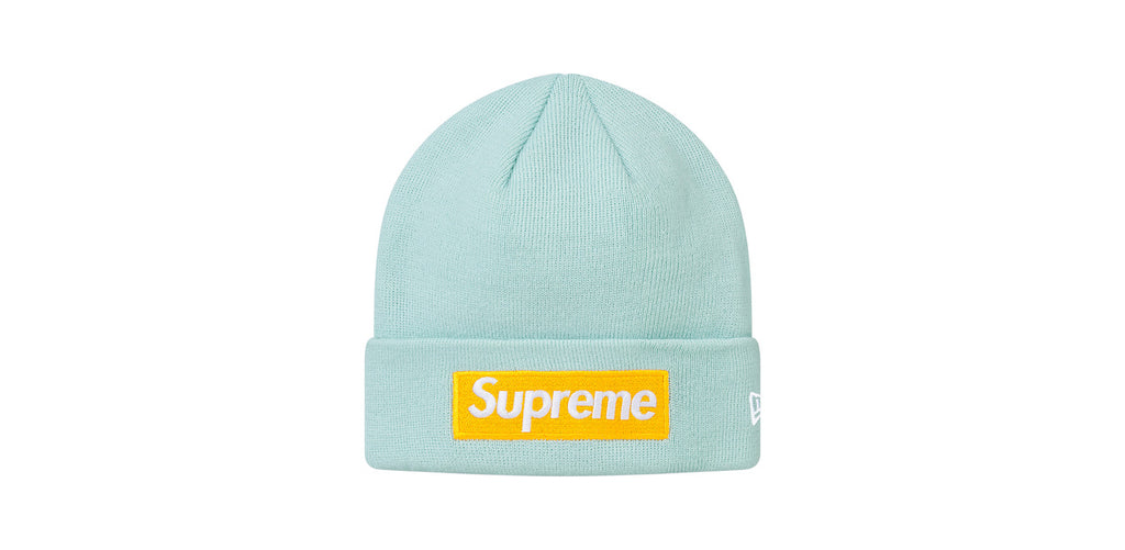 Supreme/New Era Box Logo Beanie (Ice Blue)