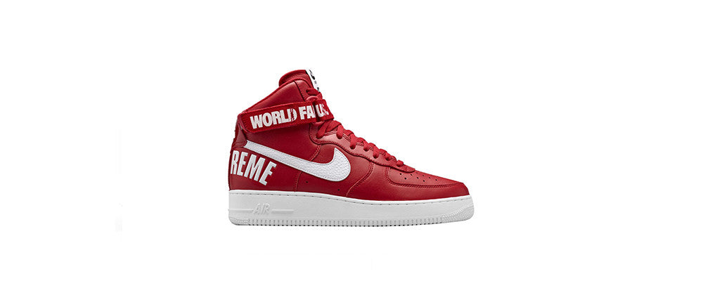 "Supreme/Nike Air Force 1 Hi ""Red"""