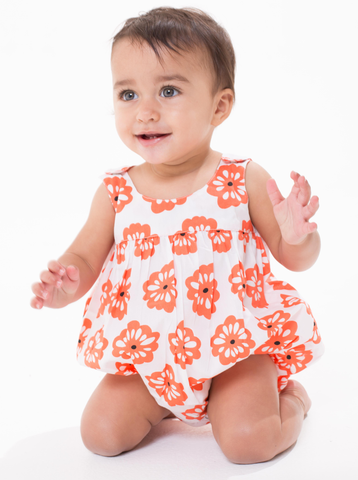Bella Sleeveless Bubble - Coral Hibiscus