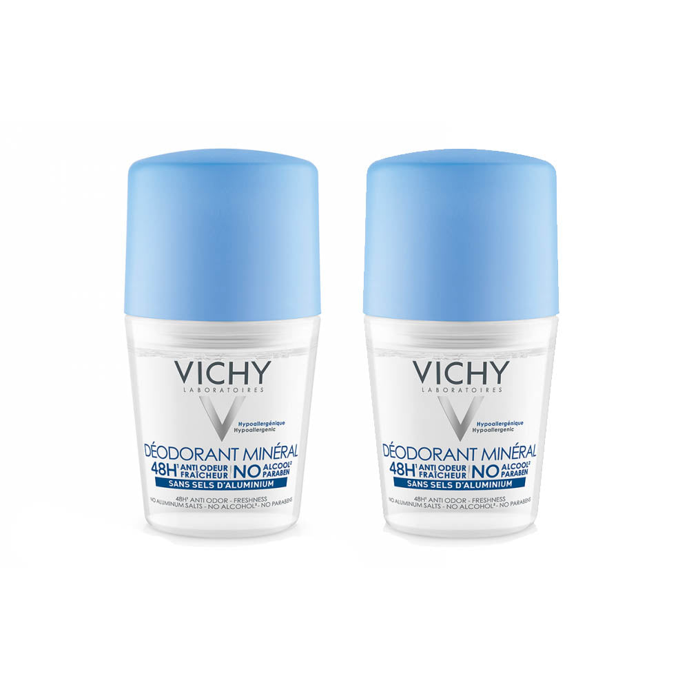Vichy Mineral Deodorant Roll-on 48h 50ml (2 pack)