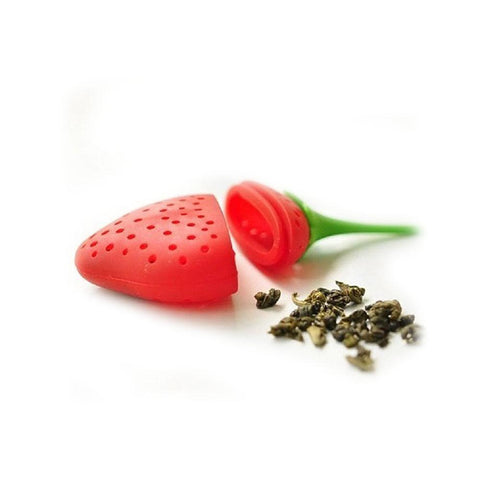 Accessories - Silicone Strawberry Tea Herb Infuser Strainer