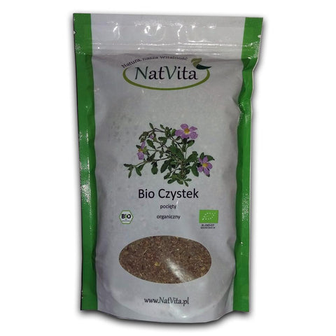Bio Organique Hebrs - Cistus Incanus Tea 100% Bio Organique Herbs, BIO Certified Czystek, (Rock Rose) 250g