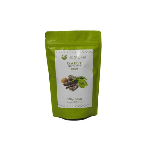 Oak Bark (Quercus cortex) Dried Bark 100g 3.55oz | Biokoma.com