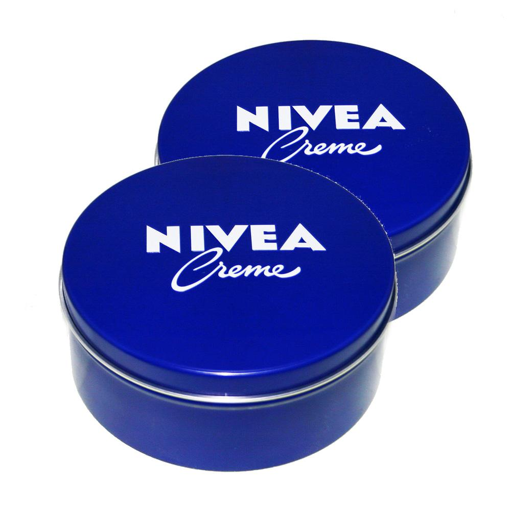 Cream - 2x Genuine Authentic German Nivea Cream Metal Tin 13.54oz. / 400ml