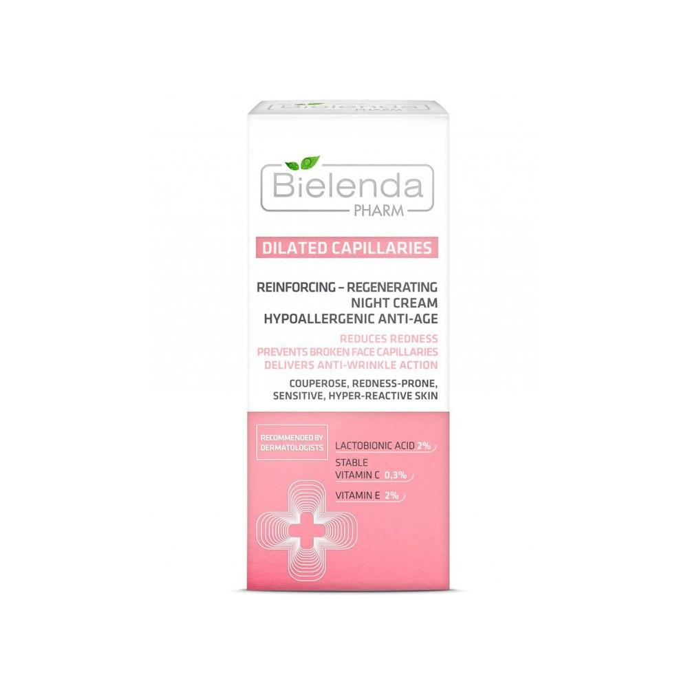 Cream - Bielenda Pharm Dilated Capillaries Reinforcing/Regenerating Night Cream 50ml