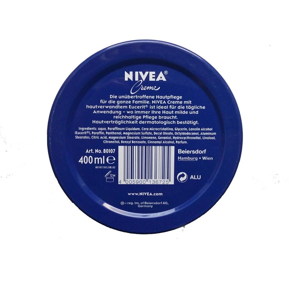 Cream - Genuine Authentic German Nivea Cream Metal Tin 8.45fl Oz, 250ml