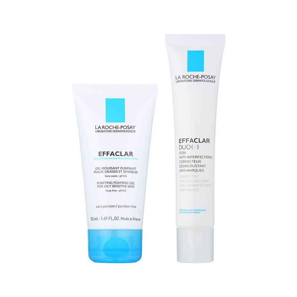 Cream - La Roche-Posay Effaclar Duo[+] Cream 40ml 1.4fl Oz + Effaclar Gel 50 Ml 1.7fl Oz Set