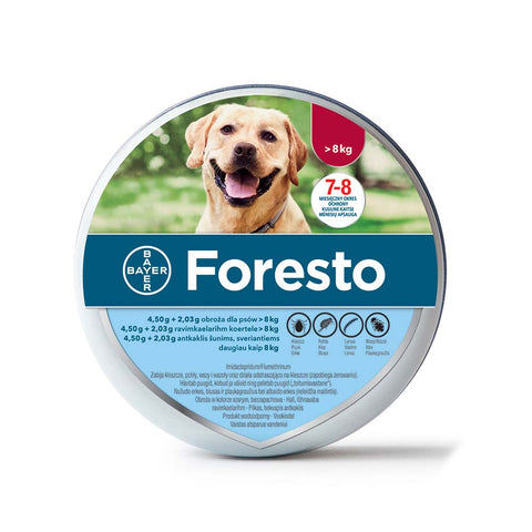 Bayer Seresto / Foresto Flea & Tick Collar for Large Dogs above 18 lbs (8kg) 7-8 Months Protection (4 pack)