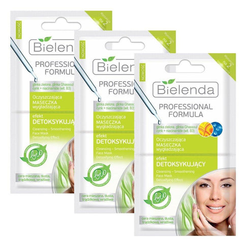 Mask - Bielenda Professional Formula Cleansing And Smoothening Mask Detoxifying Effect (18 Pack)
