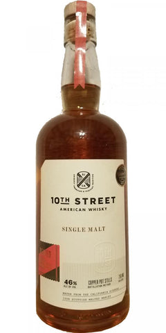 10th Street American Whiskey Single Malt Peated