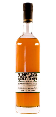 Widow Jane Rye WIDOW JANE Distilled From a Rye Mash - Oak & Apple Wood Aged Whiskey