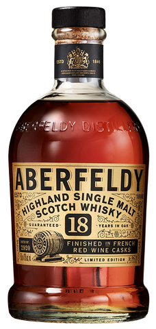 Aberfeldy 18 year finished in French red wine cask 86 Proof.  Whiskey advocates 2020 #10