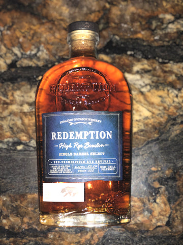 Redemption High Rye Bourbon 105 proof Bourbon wine & spirits private barrel select