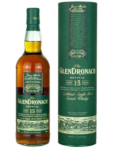 GLENDRONACH 15 YR REVIVAL 750ML 86 Proof