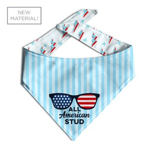 All American Stud Dog Bandana-Made by Clive and Bacon