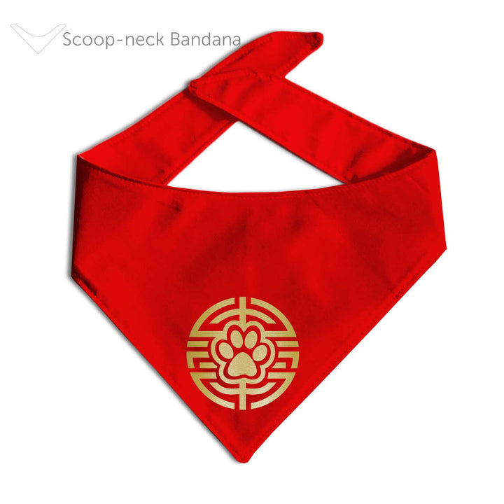 Lunar New Year Scoop Neck Bandana | 2 Designs Available!-Made by Clive and Bacon