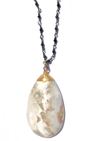 Milky White Agate Necklace