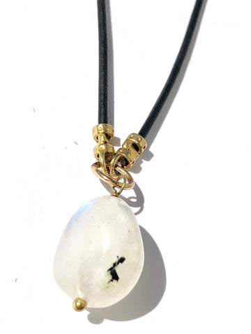 Moonstone on Leather Cord - SOLD OUT