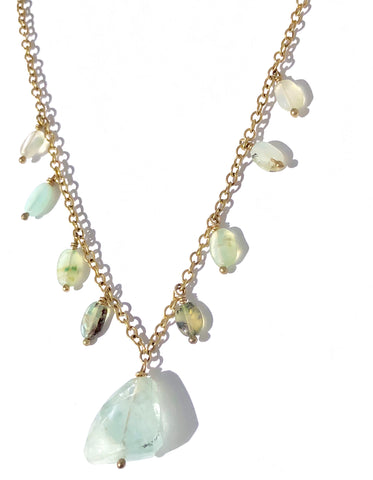 Aquamarine & Blue Peruvian Opal Necklace