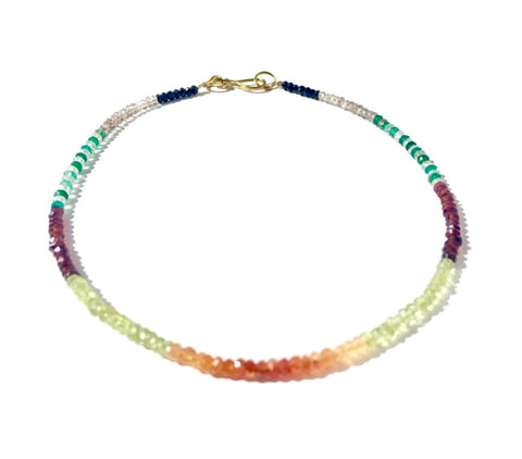 Multi Stone Choker Necklace