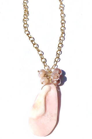 Pink Peruvian Opal/Moonstone Necklace
