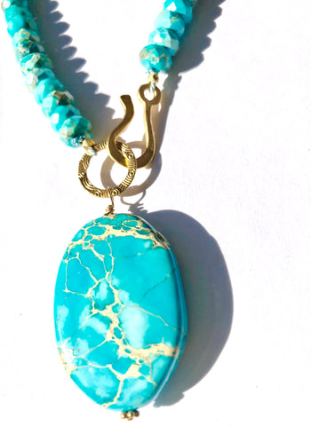 Chrysacola on Chrysacola Necklace