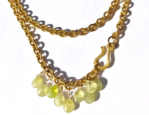 Make a Statement with Green Garnet Necklace